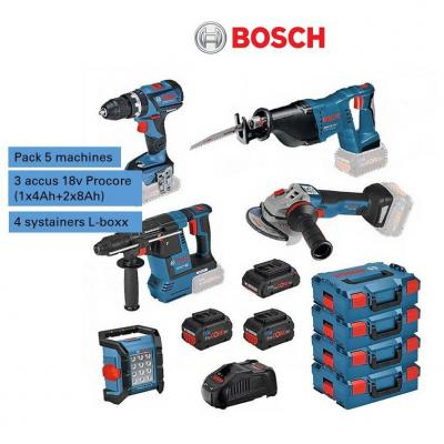 Accu/PACK 5 machines + 3 accus Procore (4Ah+8Ah) + syst